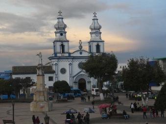 Ipiales - Blick vom Hotelfenster aus auf die Kathedrale