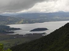 Erster Blick auf die Lagune La Cocha